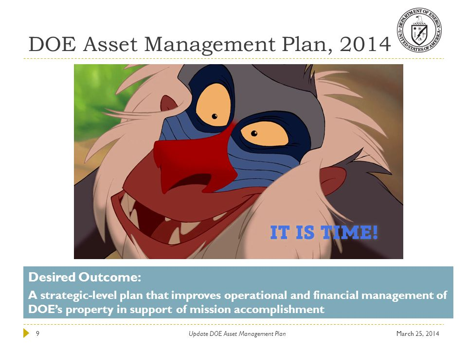 DOE Asset Management Plan, 2014