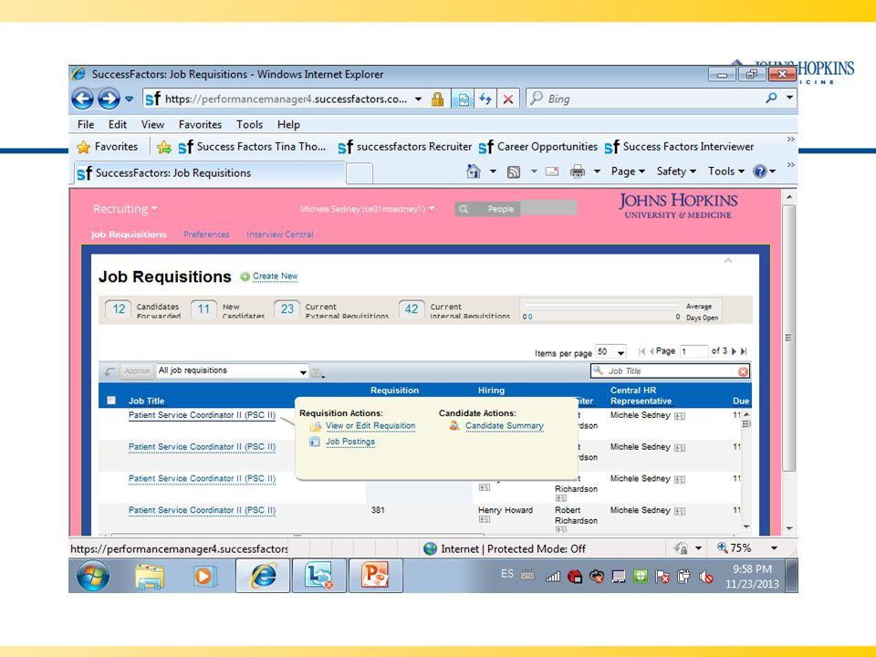 View or Edit Requisition - Open the requisition