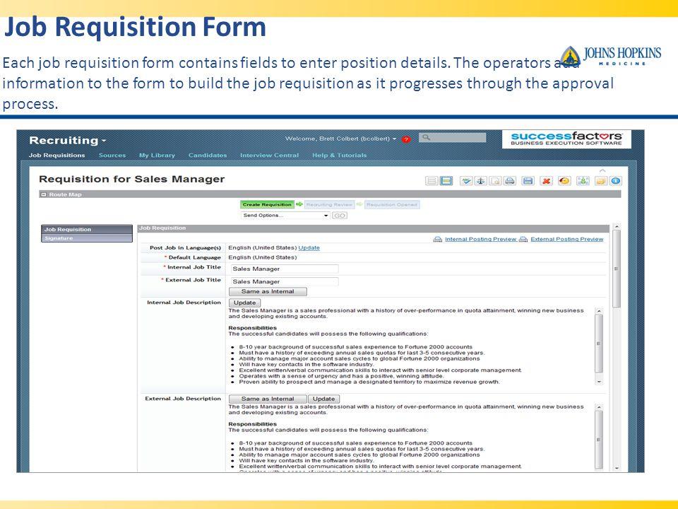 Success factors recruitment management ppt video online download 12 job requisition altavistaventures Image collections