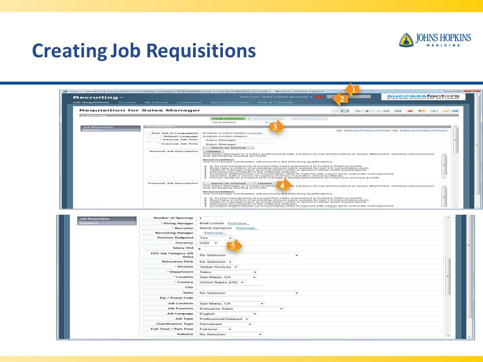 Creating Job Requisitions