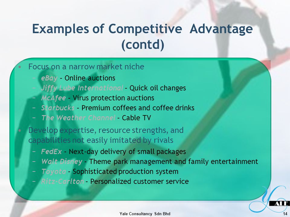 Examples of Competitive Advantage (contd)
