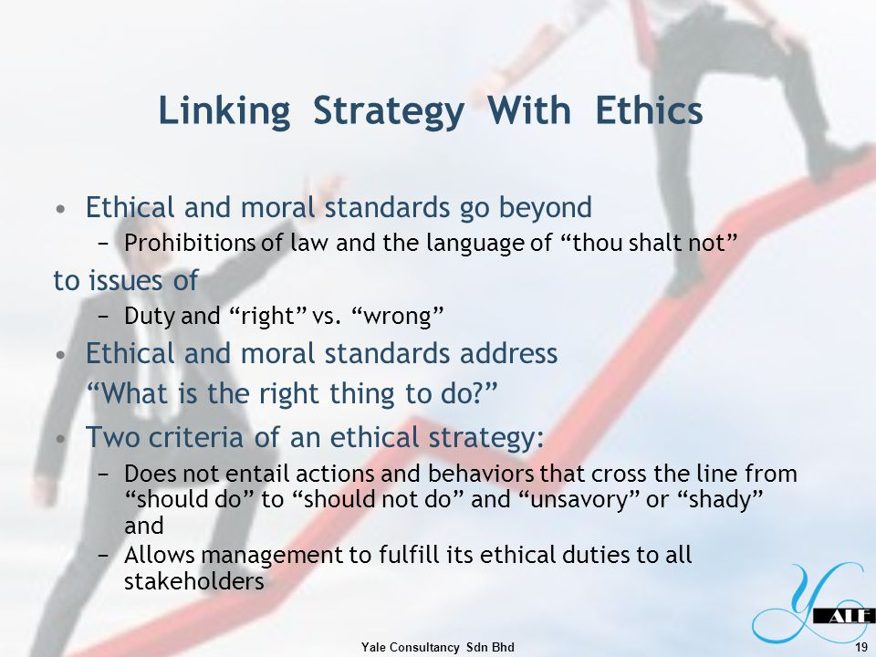 Linking Strategy With Ethics
