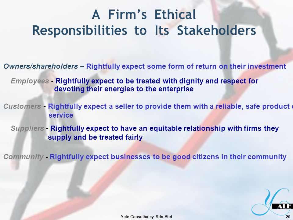 A Firm's Ethical Responsibilities to Its Stakeholders