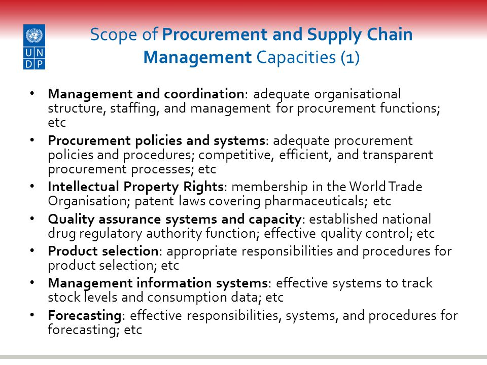 Scope of Procurement and Supply Chain Management Capacities (1)