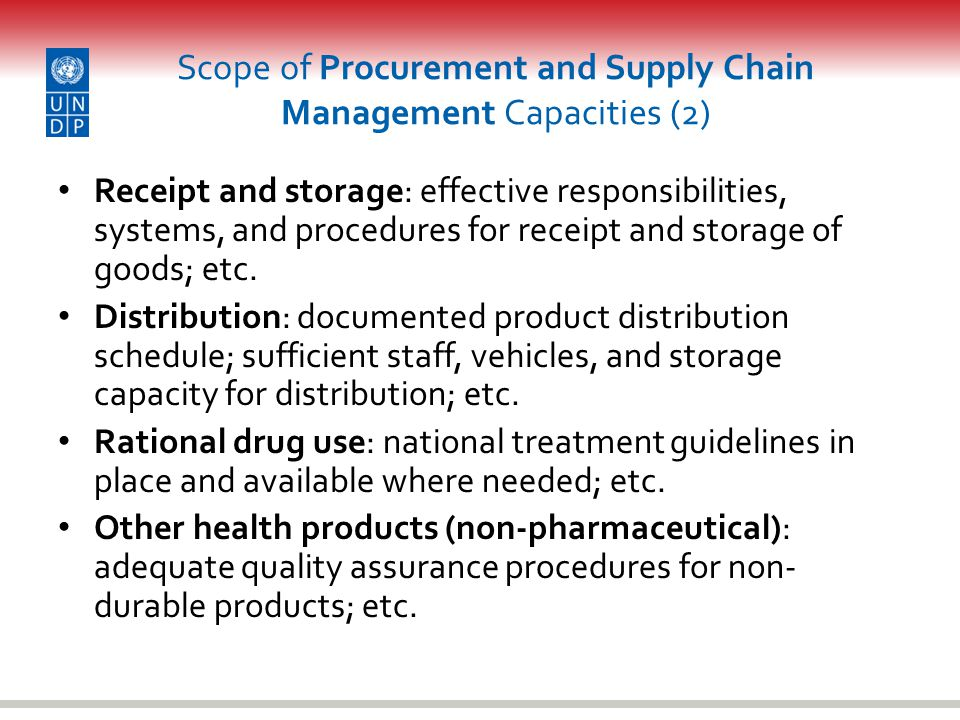 Scope of Procurement and Supply Chain Management Capacities (2)