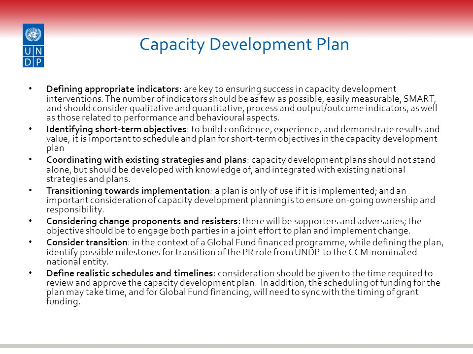 Capacity Development Plan