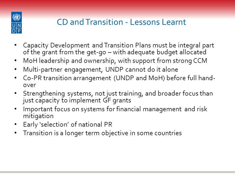 CD and Transition - Lessons Learnt