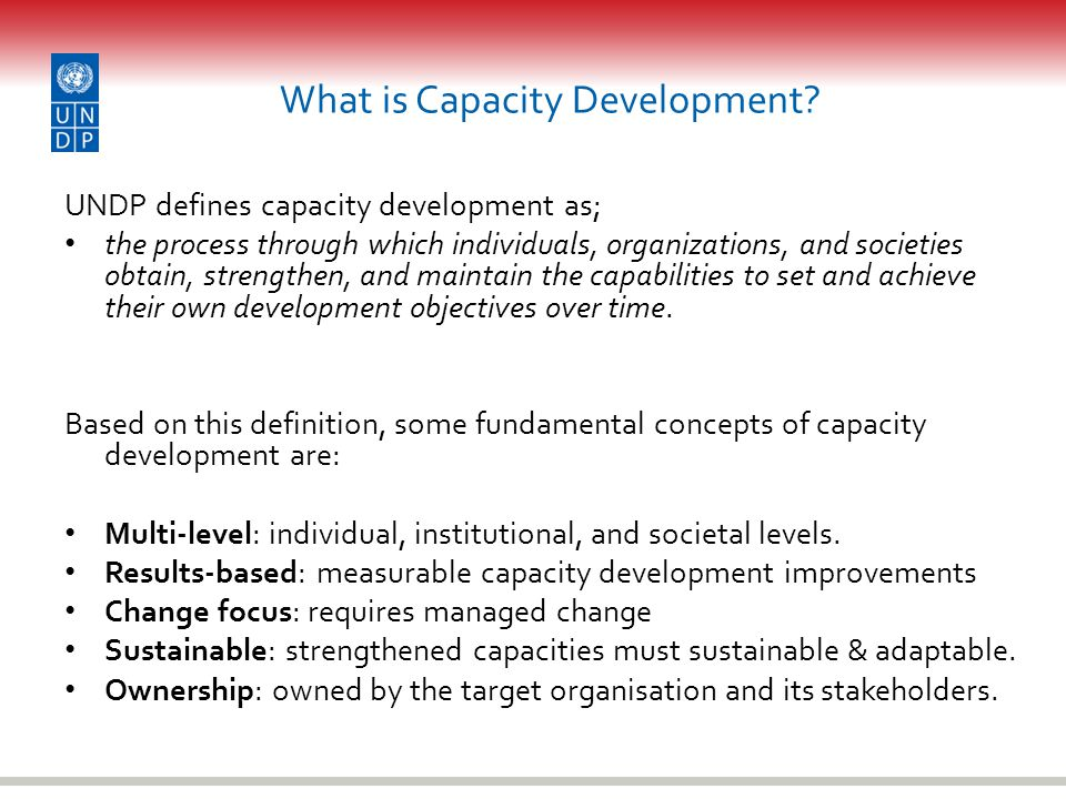 What is Capacity Development