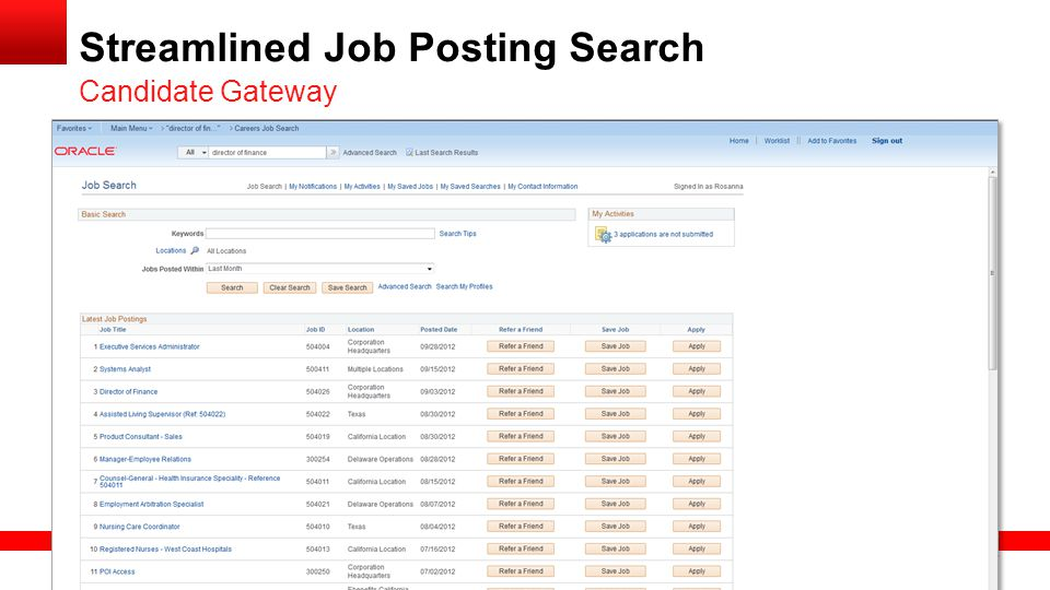 Streamlined Job Posting Search