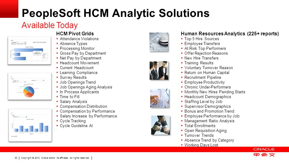 PeopleSoft HCM Analytic Solutions