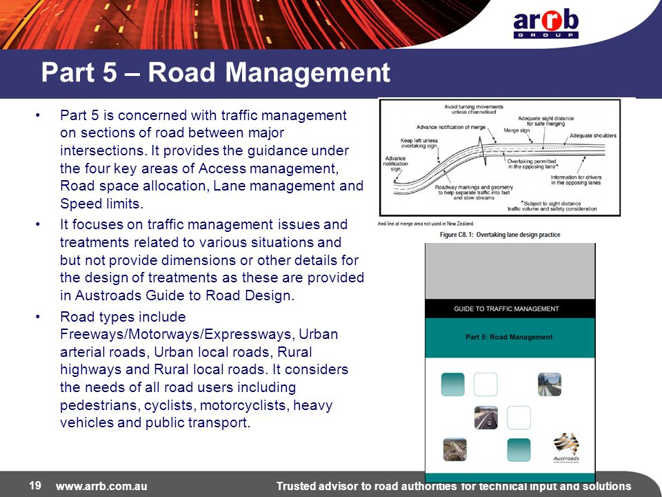 Part 5 – Road Management