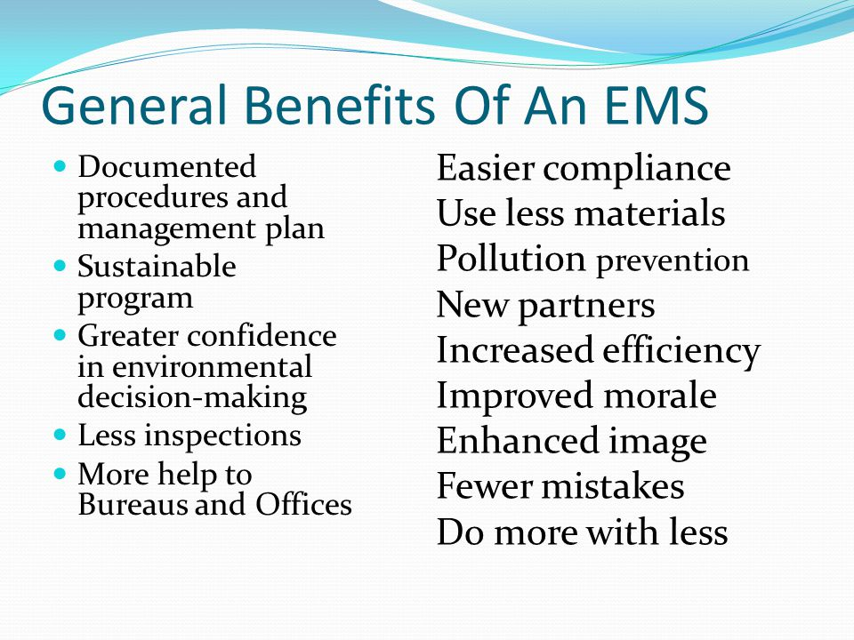 General Benefits Of An EMS