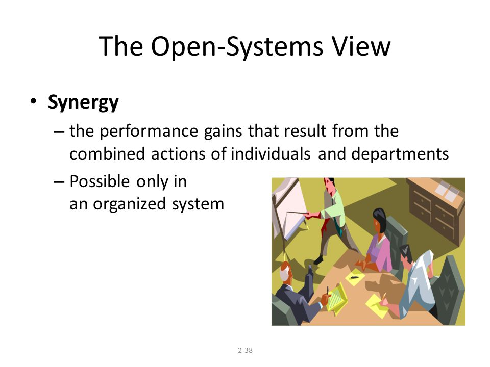 The Open-Systems View Synergy