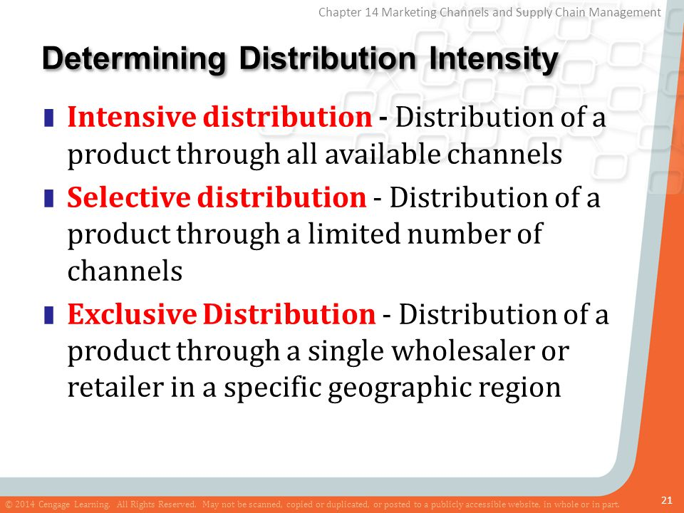 Determining Distribution Intensity