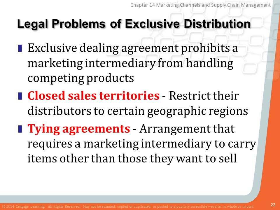 Legal Problems of Exclusive Distribution