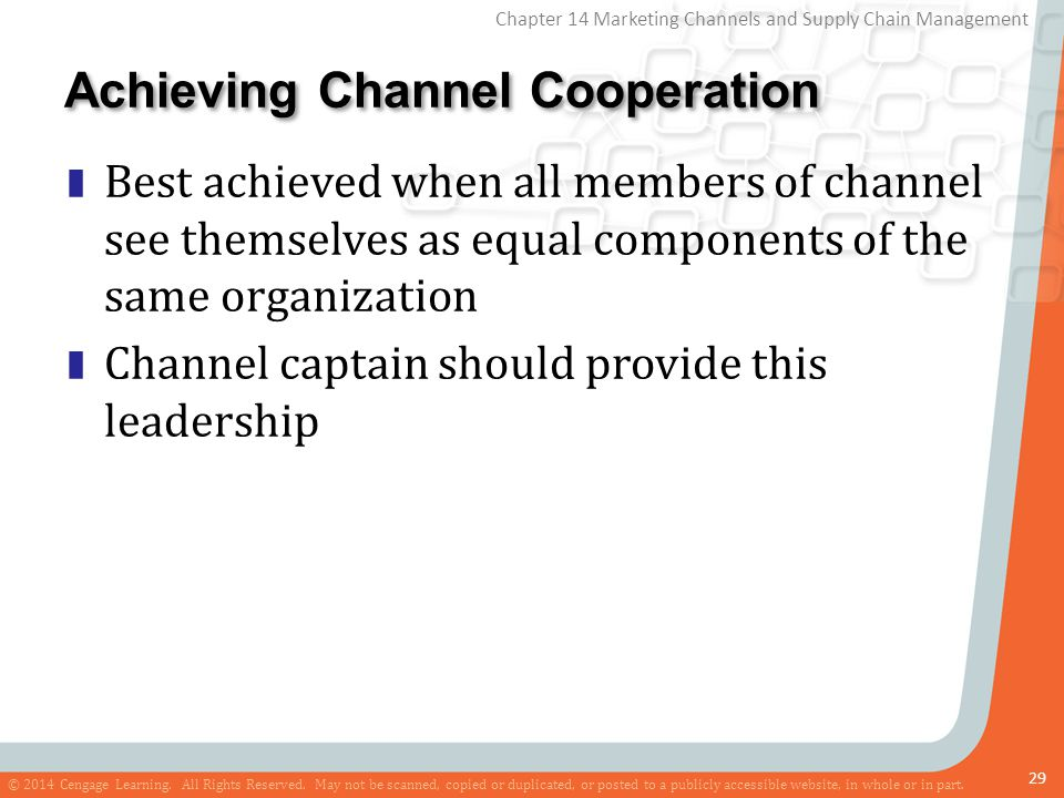 Achieving Channel Cooperation