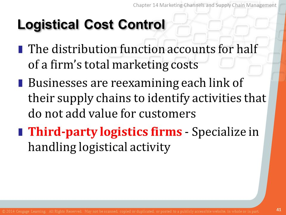 Logistical Cost Control