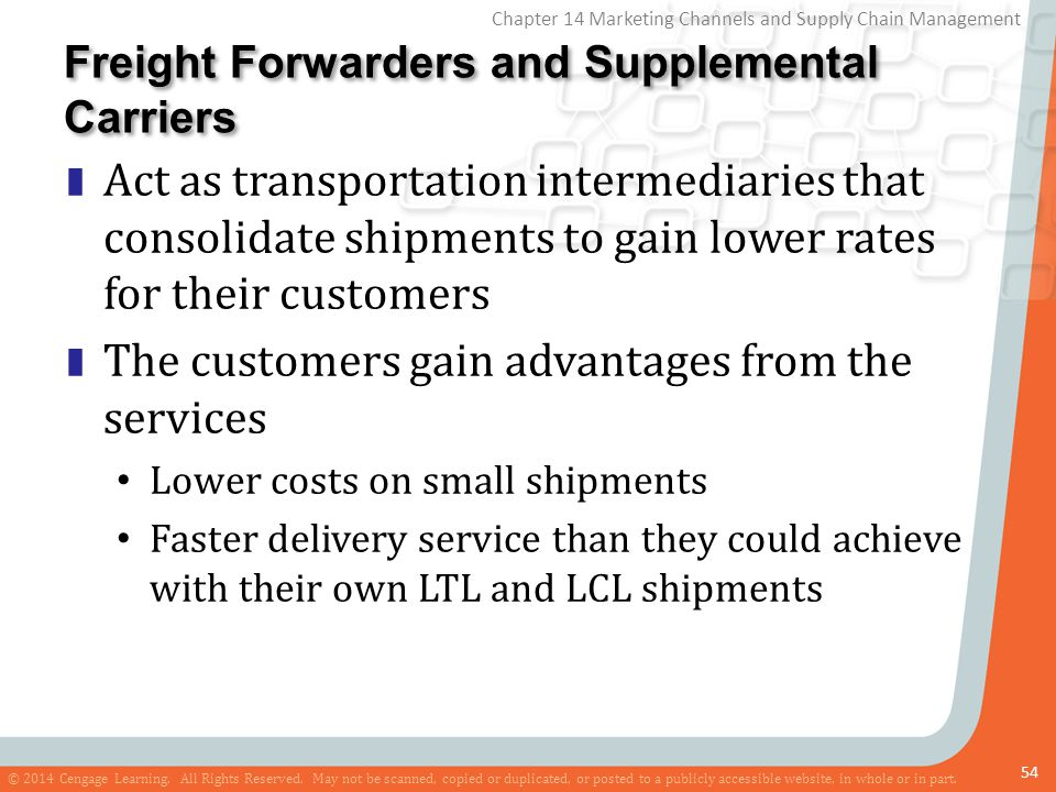 Freight Forwarders and Supplemental Carriers
