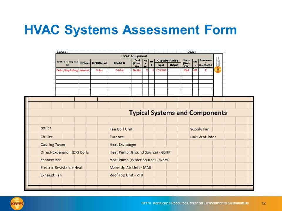 HVAC Systems Assessment Form 2