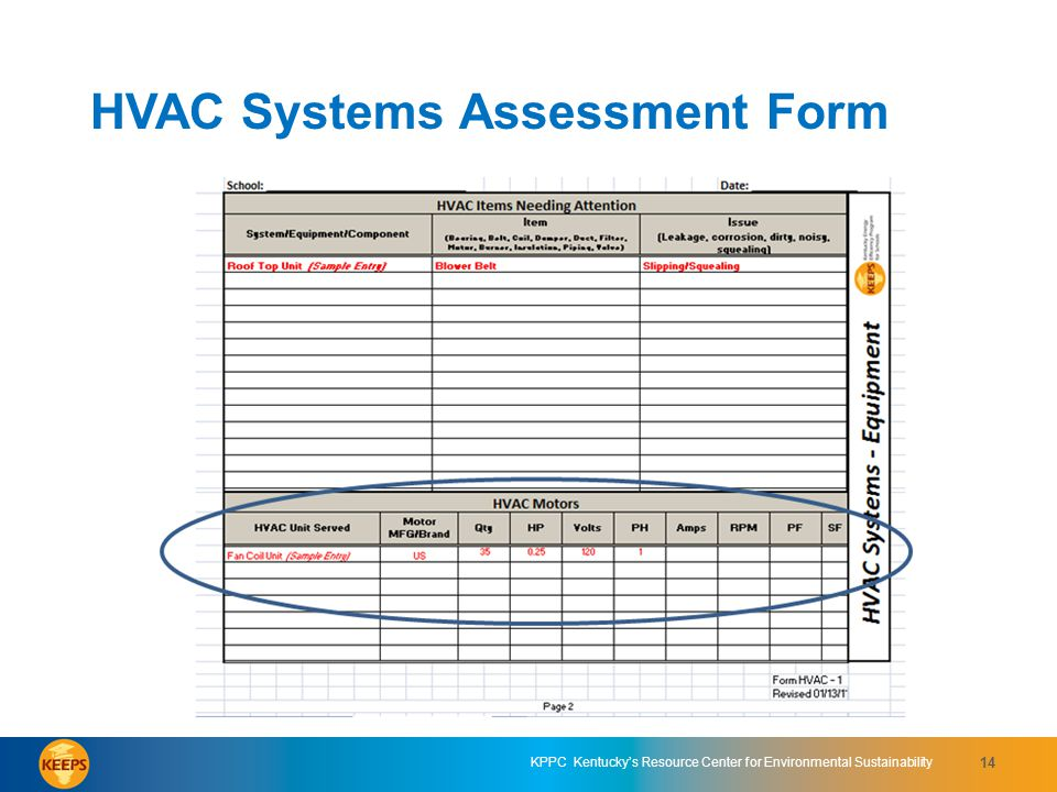 HVAC Systems Assessment Form 4