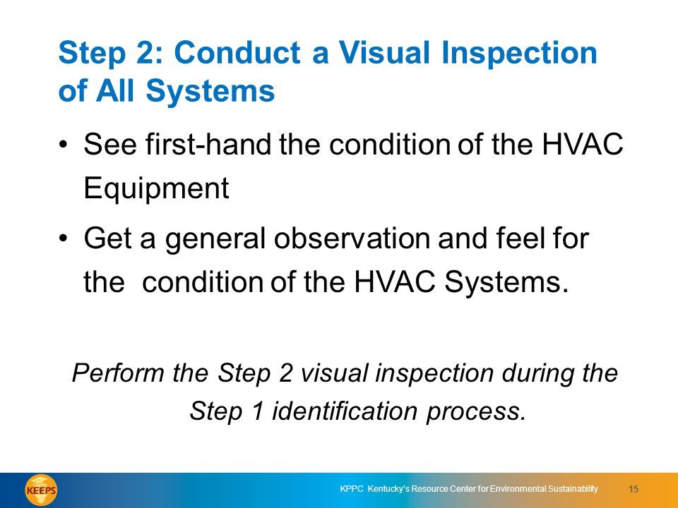 Step 2: Conduct a Visual Inspection of All Systems