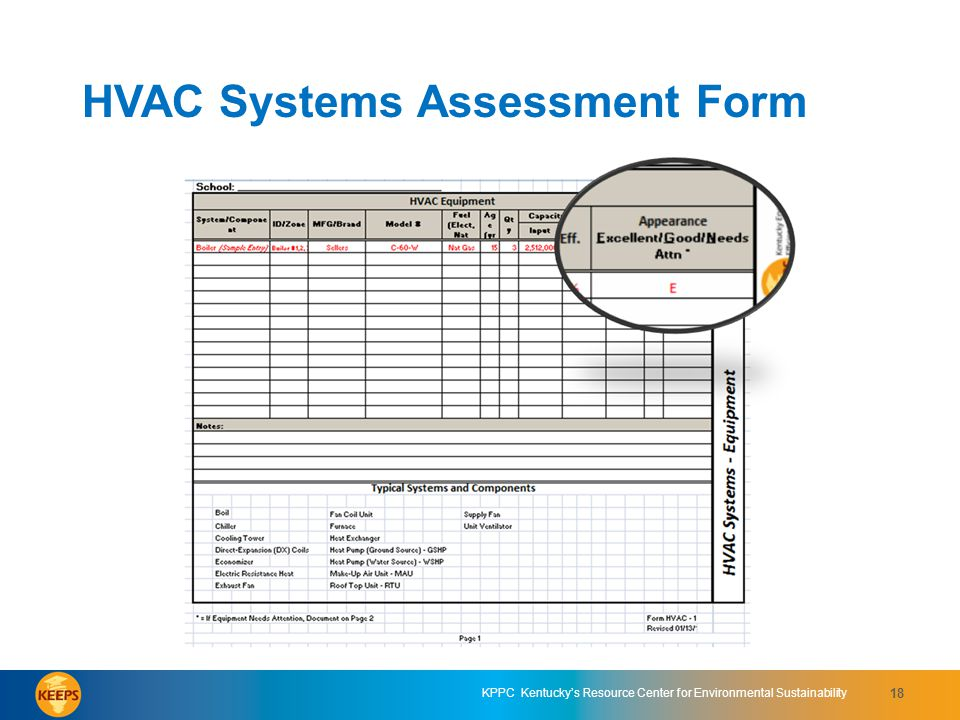 HVAC Systems Assessment Form 6