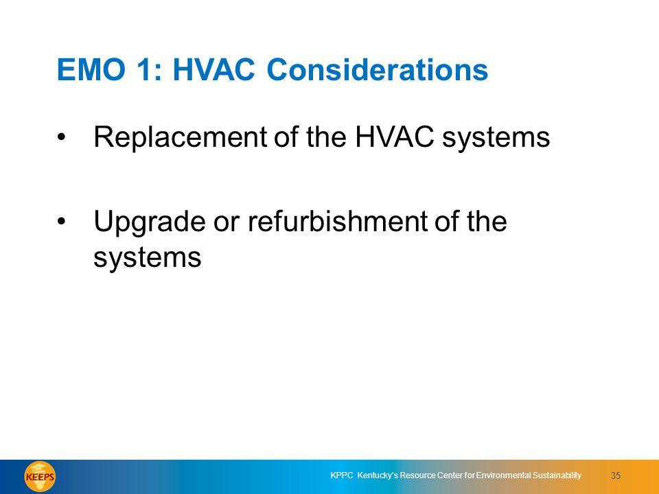 EMO 1: HVAC Considerations