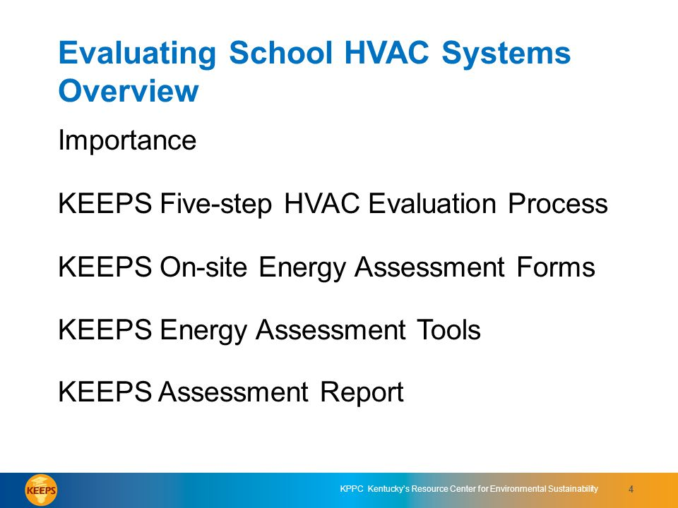 Evaluating School HVAC Systems Overview