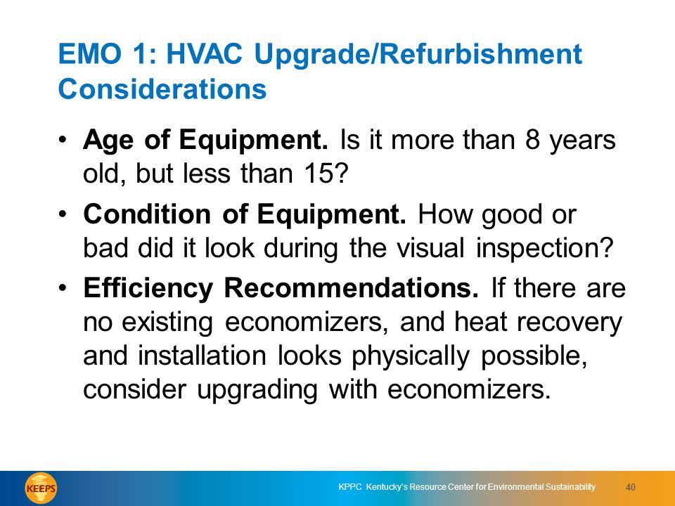 EMO 1: HVAC Upgrade/Refurbishment Considerations