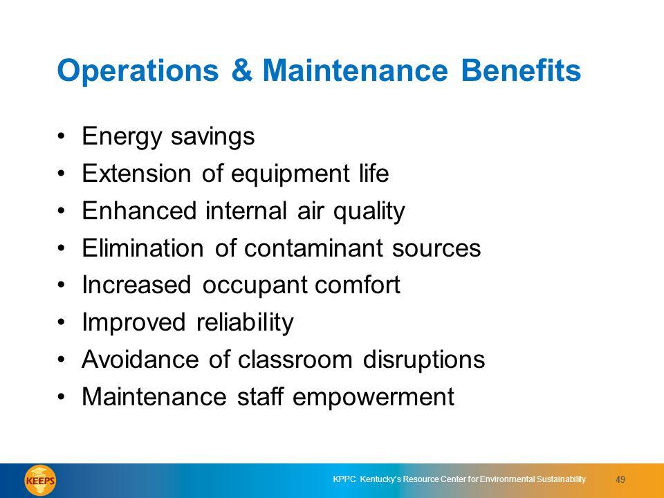 Operations & Maintenance Benefits