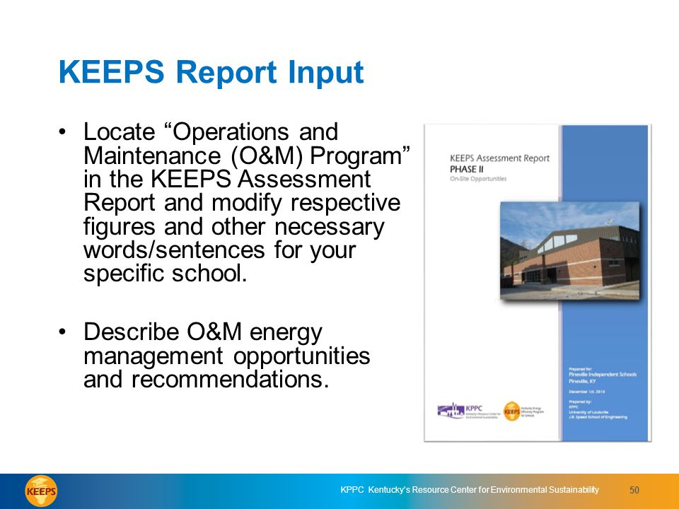 KEEPS Report Input