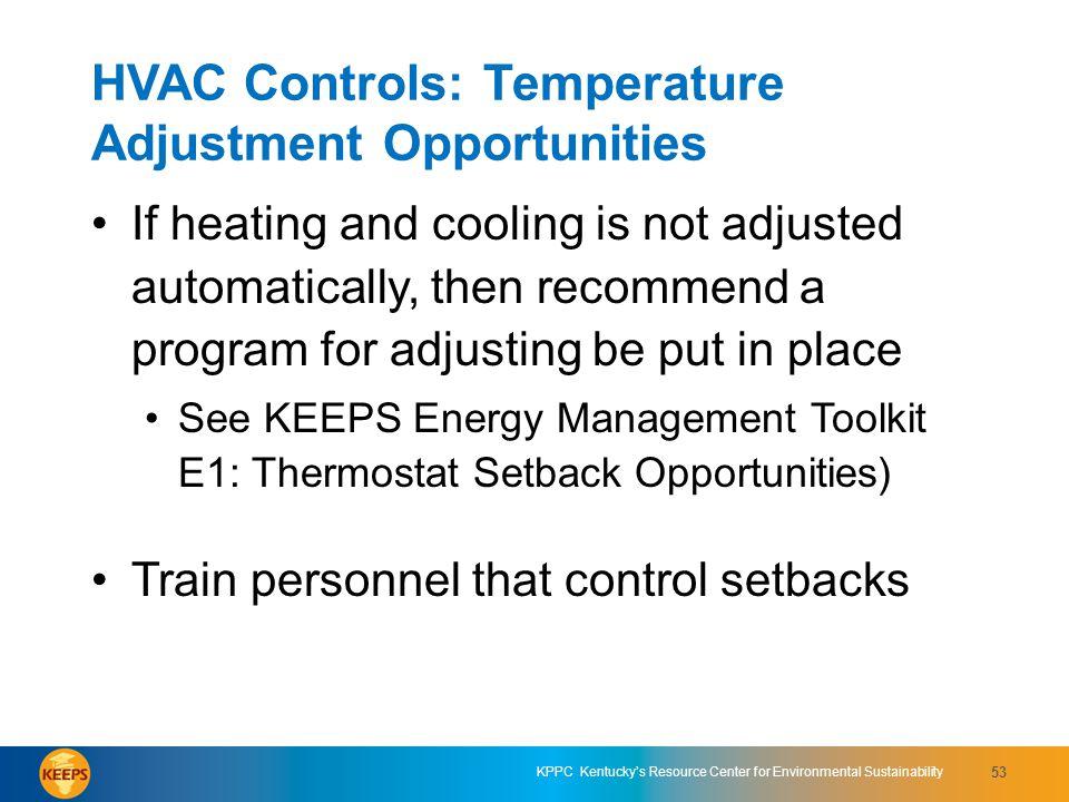HVAC Controls: Temperature Adjustment Opportunities