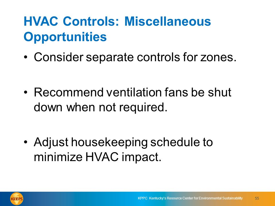 HVAC Controls: Miscellaneous Opportunities
