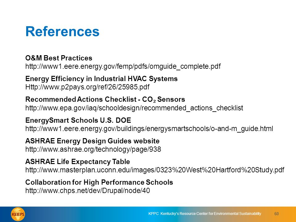 References O&M Best Practices