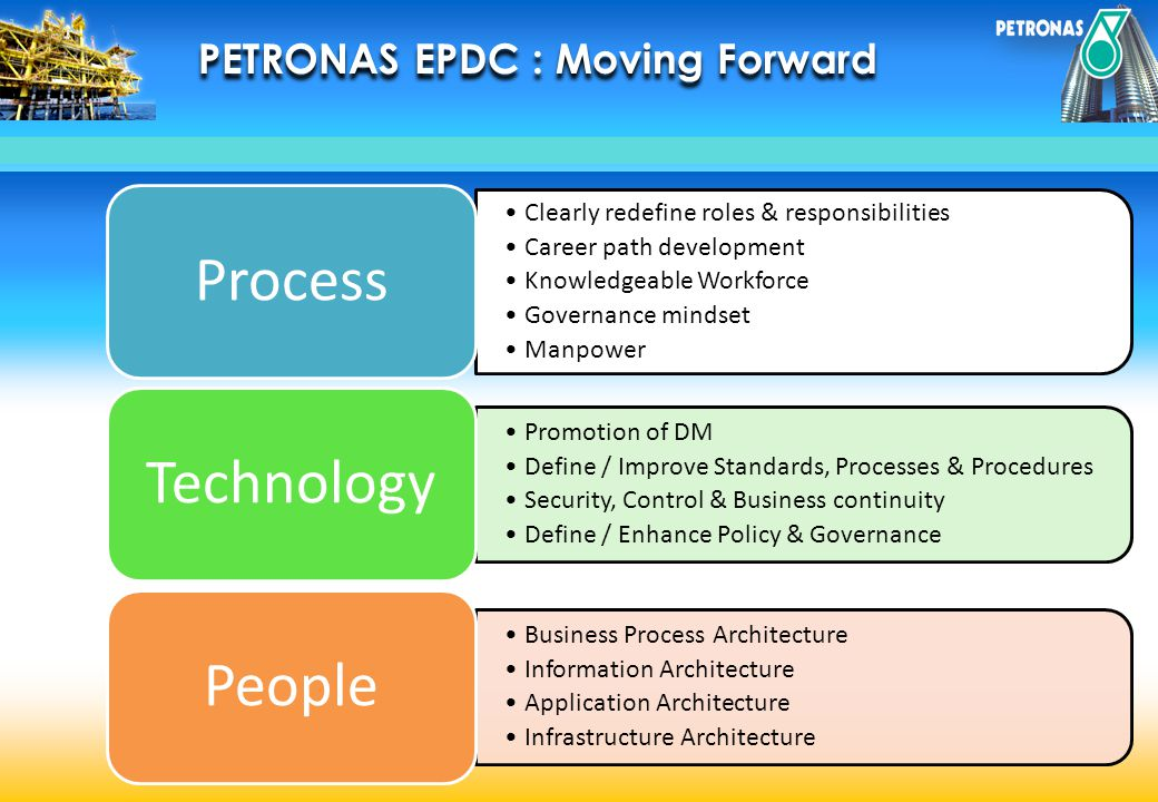 Process Technology People PETRONAS EPDC : Moving Forward