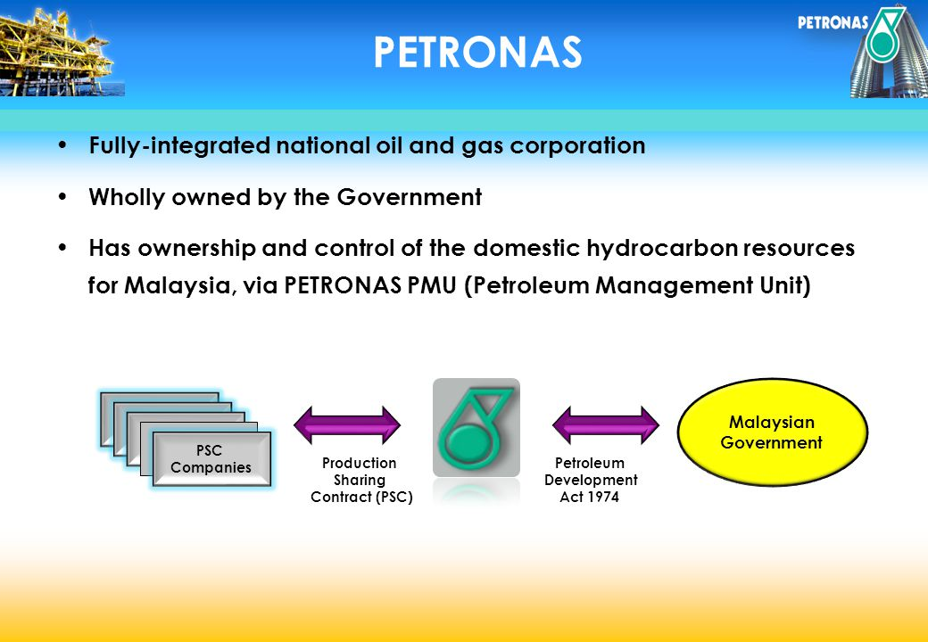 PETRONAS Fully-integrated national oil and gas corporation