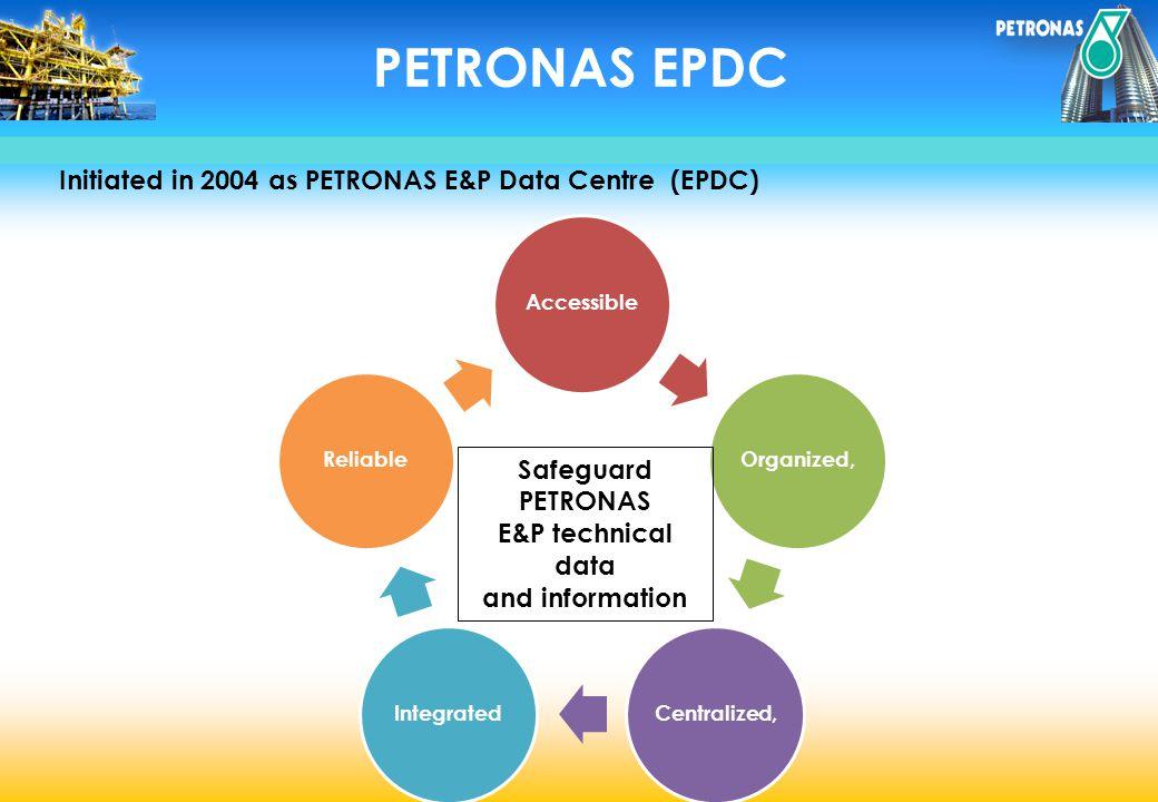 PETRONAS EPDC Initiated in 2004 as PETRONAS E&P Data Centre (EPDC)