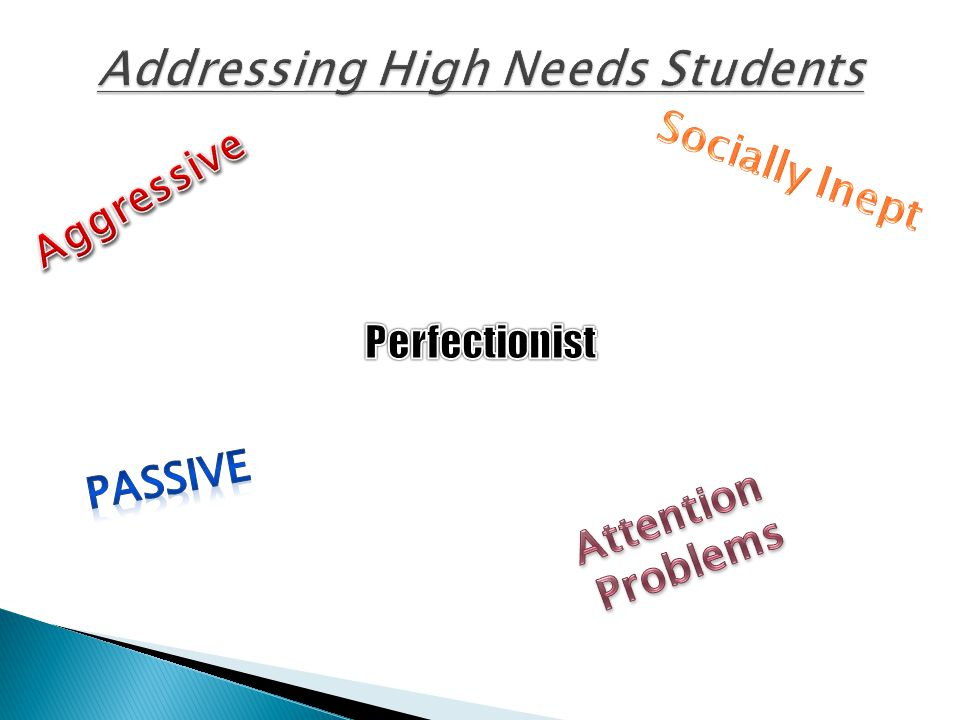 Addressing High Needs Students