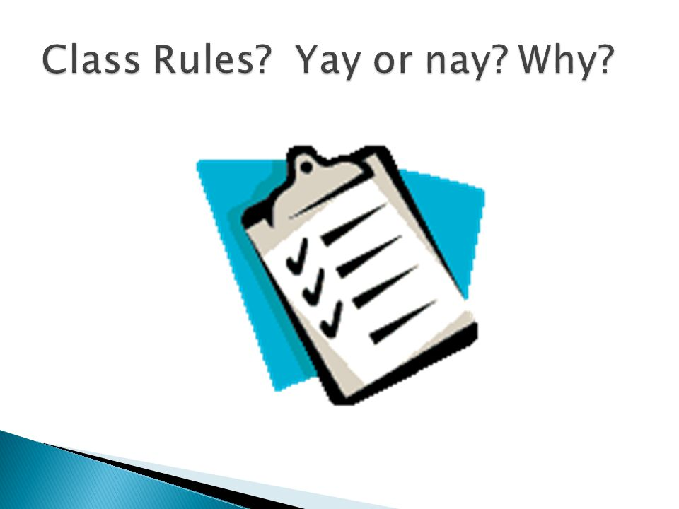 Class Rules Yay or nay Why