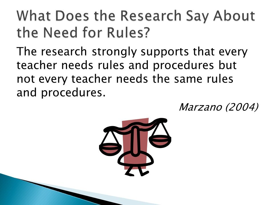 What Does the Research Say About the Need for Rules