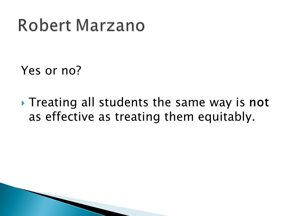 Robert Marzano Yes or no