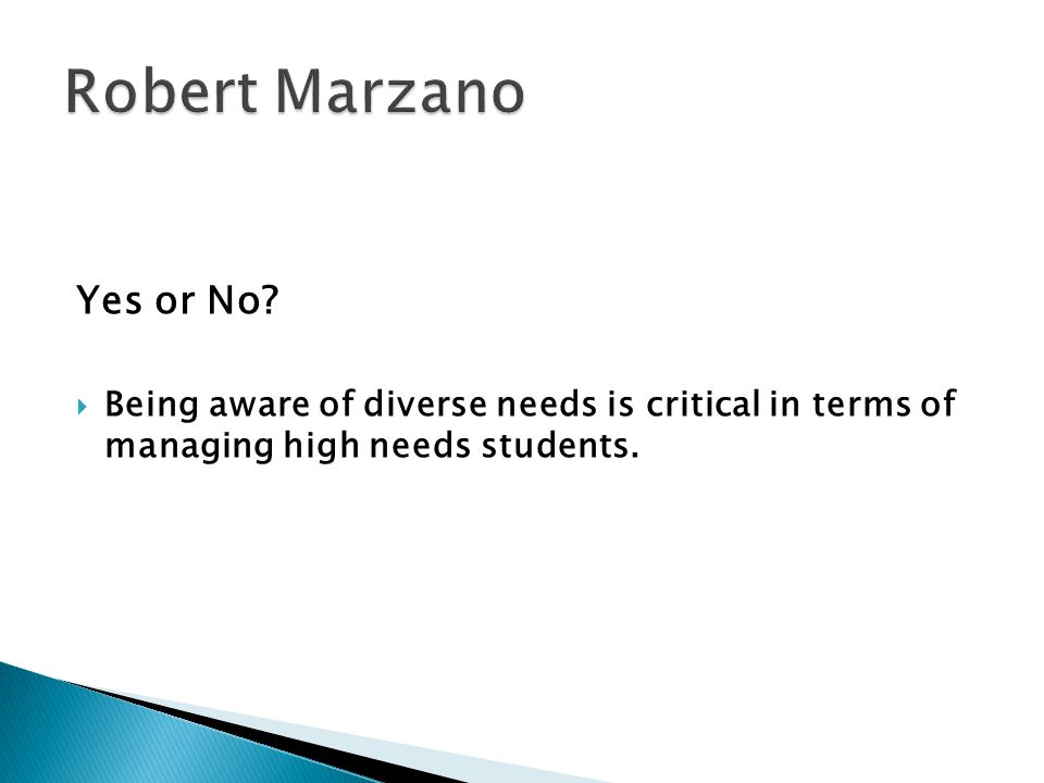 Robert Marzano Yes or No