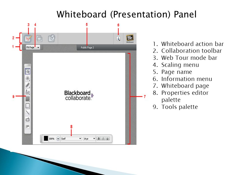 Whiteboard (Presentation) Panel