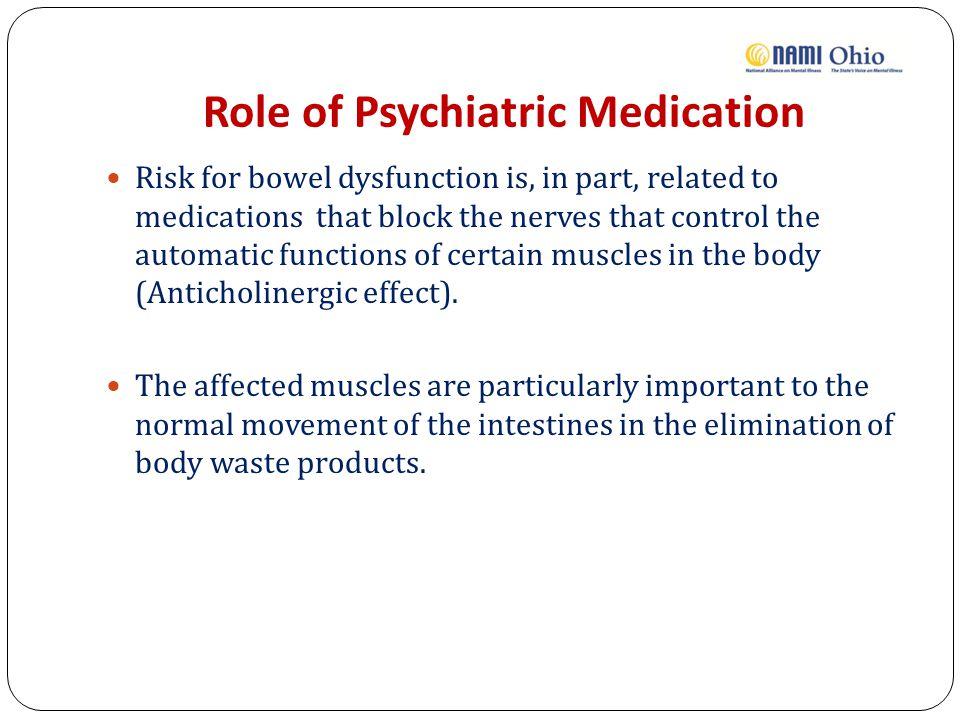 Role of Psychiatric Medication