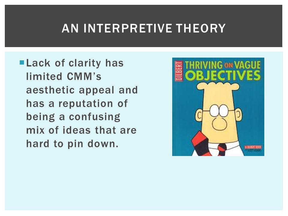 An Interpretive theory