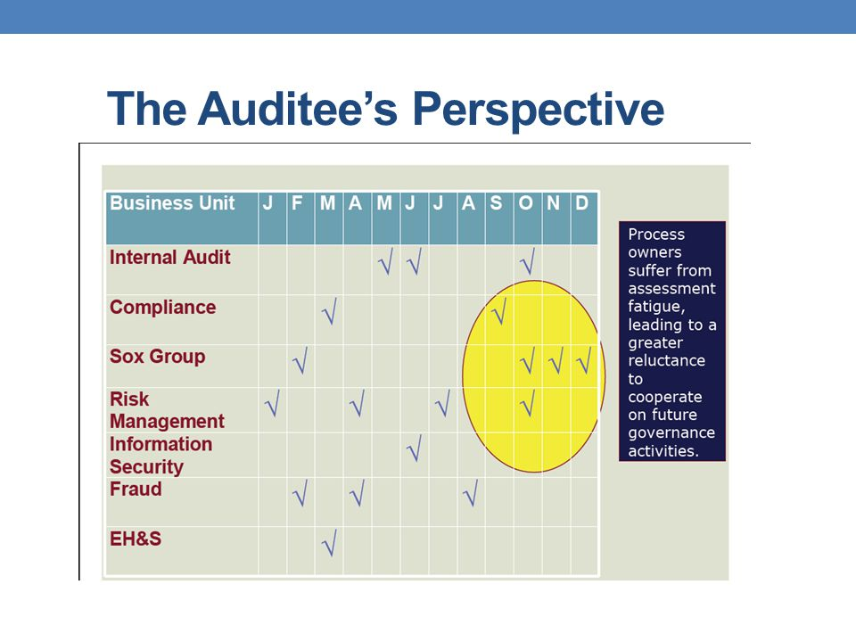 The Auditee's Perspective