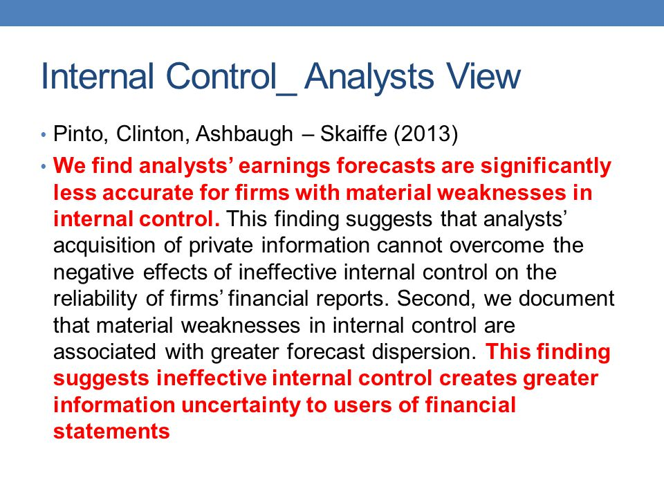 Internal Control_ Analysts View