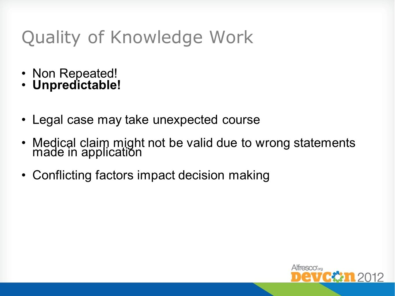Quality of Knowledge Work