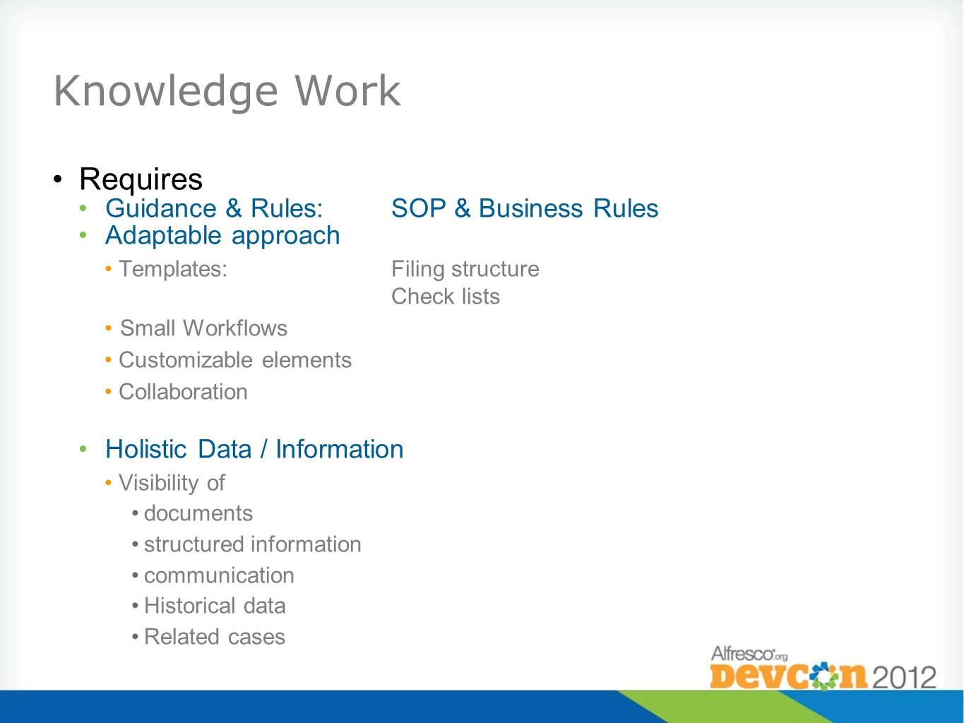 Knowledge Work Requires Guidance & Rules: SOP & Business Rules