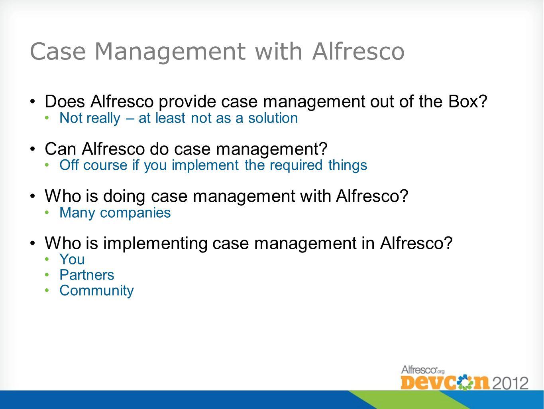 Case Management with Alfresco